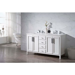 Stufurhome Emily 59 Inch Double Sink Bathroom Vanity