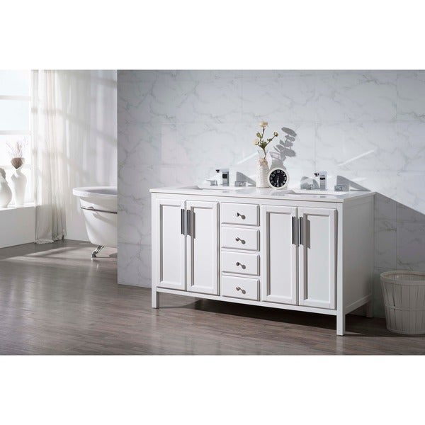 Shop Stufurhome Emily 59 Inch Double Sink Bathroom Vanity Free Shipping Today