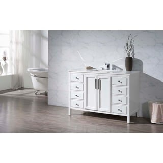 Stufurhome Emily 49 Inch Single Sink Bathroom Vanity