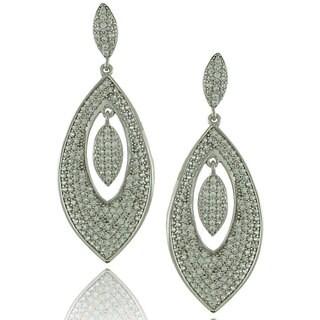 Suzy Levian Cubic Zirconia Sterling Silver Dangle Earrings