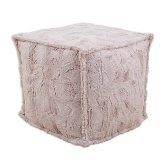 Chooty Luxe Blush Pink Square Bead-filled Hassock