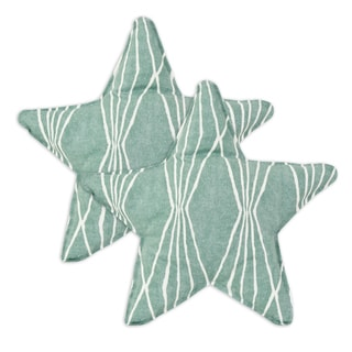 Handcut Shapes Rain Star Shaped Pillow (Set of 2)