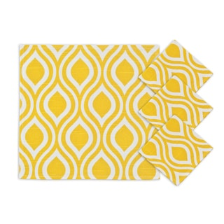 Nichole Corn Yellow 12.5-inch Napkins (Set of 4)