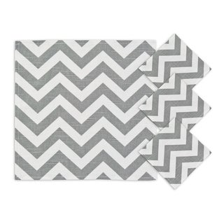 Zig Zag Ash 12.5-inch Napkins (Set of 4)