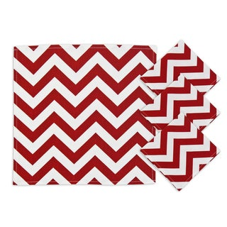 Zig Zag Lipstick 12.5-inch Napkins (Set of 4)