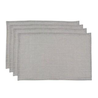 Burlap Ash Grey Hemmed Placemat (Set of 4)