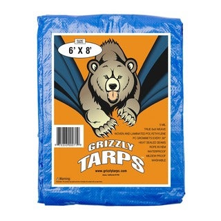 Grizzly Heavy-Duty 6-foot x 8-foot Utility Tarp