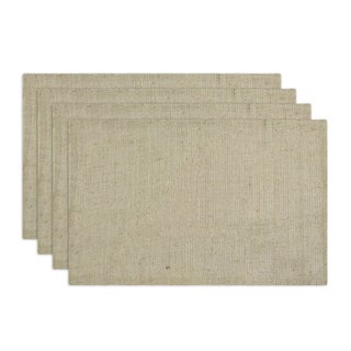 Burlap Natural Hemmed Placemat (Set of 4)