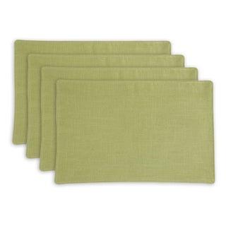 Circa Solid Cactus Lined Placemats (Set of 4)