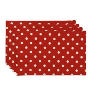 Ikat Dot Red Placemat (Set of 4)