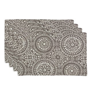 Mandy Mocha Lined Placemat (Set of 4)