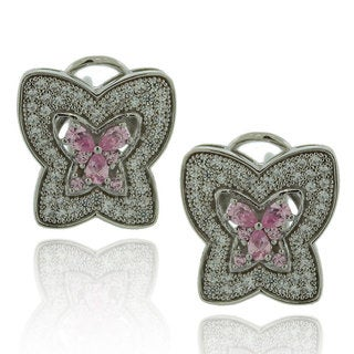 Suzy Levian Cubic Zirconia Sterling Silver Butterfly Earrings