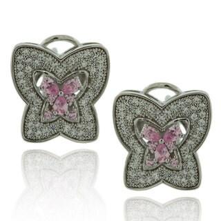 Suzy Levian Cubic Zirconia Sterling Silver Butterfly Earrings
