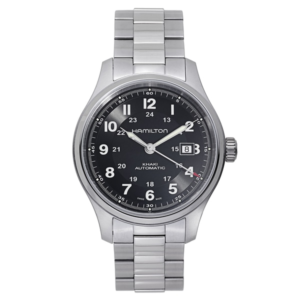 Hamilton Men's Khaki Field Titanium Black Watch