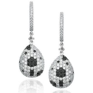 Suzy Levian Pave Cubic Zirconia Sterling Silver Floral Ball Drop Earrings|https://ak1.ostkcdn.com/images/products/10394916/P17497909.jpg?impolicy=medium