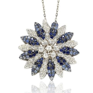 Suzy Levian Sapphire and Diamond in Sterling Silver and 18K Gold Pendant https://ak1.ostkcdn.com/images/products/10394956/P17497932.jpg?impolicy=medium