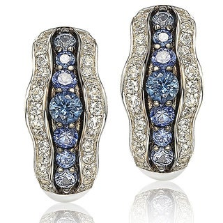 Suzy Levian Sapphire and Diamond in Sterling Silver and 18K Gold Earring|https://ak1.ostkcdn.com/images/products/10394982/P17497943.jpg?_ostk_perf_=percv&impolicy=medium