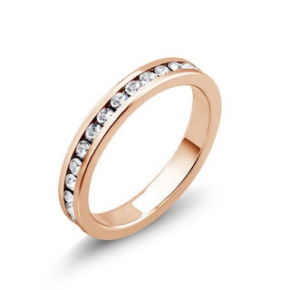 Rose Goldplated Cubic Zirconia Eternity Band