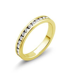 Goldplated Cubic Zirconia Eternity Band