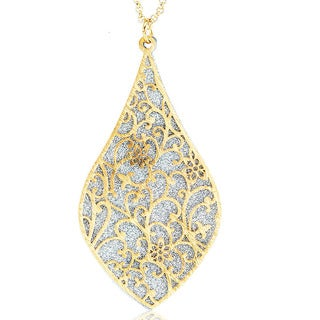 Goldplated Silver Glitter Filligree Necklace