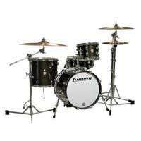 Ludwig Breakbeats 4-piece Black Sparkle Shell Pack