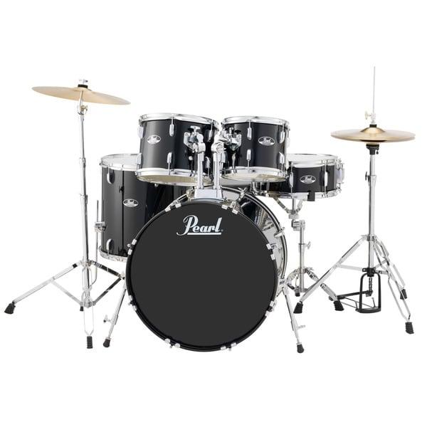 Pearl Roadshow Rs525s 5-piece Jet Black Drum Set