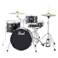 Pearl Roadshow Rs584 4-piece Jet Black Drum Set