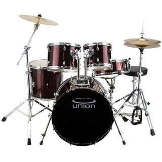 Union - U5 5-piece Jazz Rock Blues Wine Red Drum Set