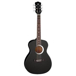 Luna Aurora Borealis 0.75 Black Guitar