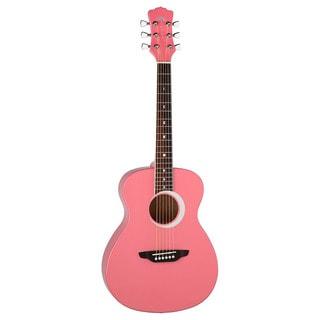 Luna Aurora Borealis 0.75 Pink Guitar