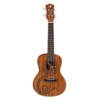Luna Maluhia Peace Etched Mahogany Concert Body Acoustic Ukulele