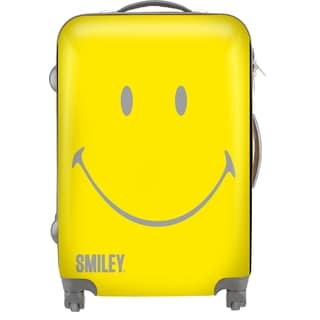 Smiley Classic 22-inch Expandable Carry On Hardside Spinner Upright Suitcase