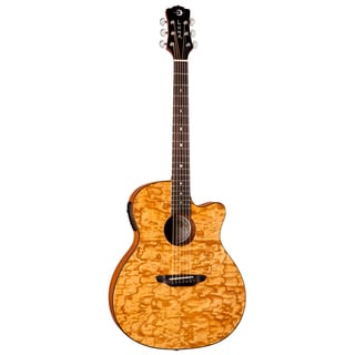 Luna Gypsy Quilt Natural Guitar