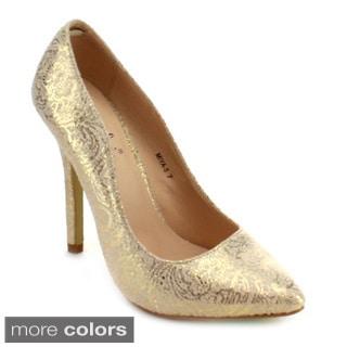 Machi Miya-5 Women's Classic Work Stiletto High Heel Prom Dress Pumps