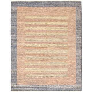 Ecarpetgallery Finest Ziegler Chobi Brown Wool Abstract Rug (6'5 x 8'3)