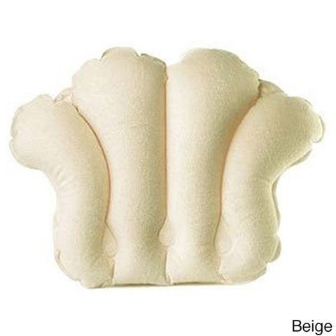 Terry Bath Pillow - Spa-Quality Terry Cloth - Easily Inflatable with Secure Suction Cups - Hot Tub and Jacuzzi Safe - N/A