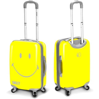 Smiley Classic 30-inch Hardside Spinner Upright Suitcase