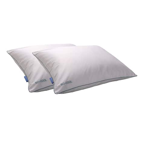Splendorest Iso-Cool Traditional Polyester Pillow with Outlast Cover (Set of 2) - White