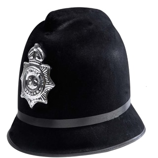 Black English Police Officer Bobby Hat Costume