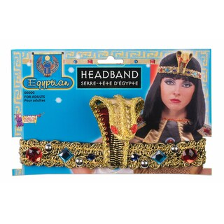 Egyptian Queen Snake Gold Headband Costume