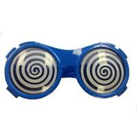 Blue Round Hypnotize X-ray Vision Glasses