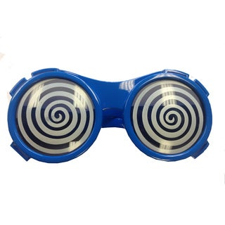 Blue Round Hypnotize X-ray Vision Glasses