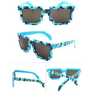 8-bit Pixelated Blue Adult Sunglasses