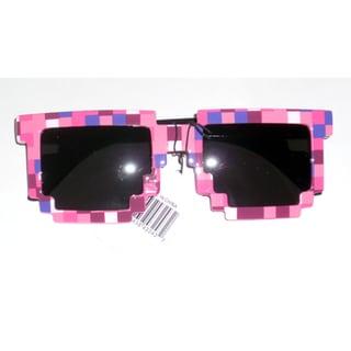 8-bit Pixelated Pink Adult Sunglasses