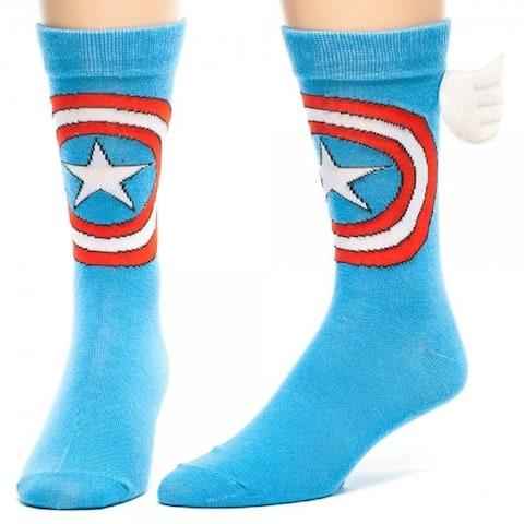 Captain America Winged Crew Socks