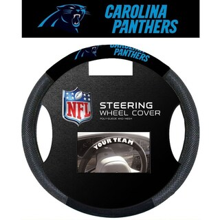 Carolina Panthers Poly Mesh Steering Wheel Cover