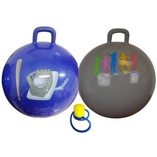 Bintiva 55cm Space Hopper Ball Bouncer (Option: Blue)