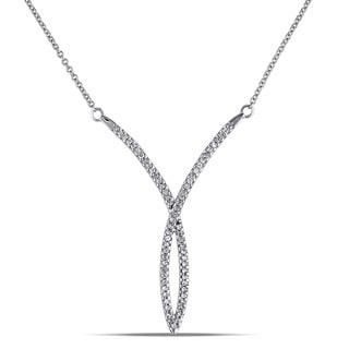 Miadora 10k White Gold 1/5ct TDW Diamond Necklace (G-H, I2-I3)