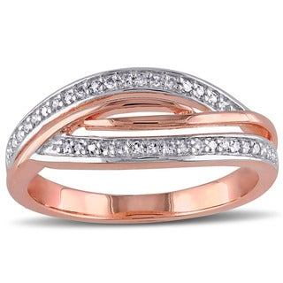 Miadora Two-tone Silver 1/6ct TDW Diamond Ring