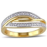 Miadora Two-tone Silver 1/6ct TDW Diamond Ring